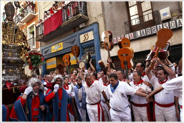 Nothing like it on Earth: San Fermín is carried into the streets (Jim Hollander)